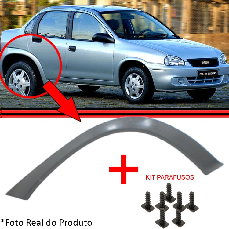 Moldura Lateral Traseira Corsa Sedan 94 a 08 Corsa Wagon 94 a 08 Preto Liso  - Amd Auto Pe�as