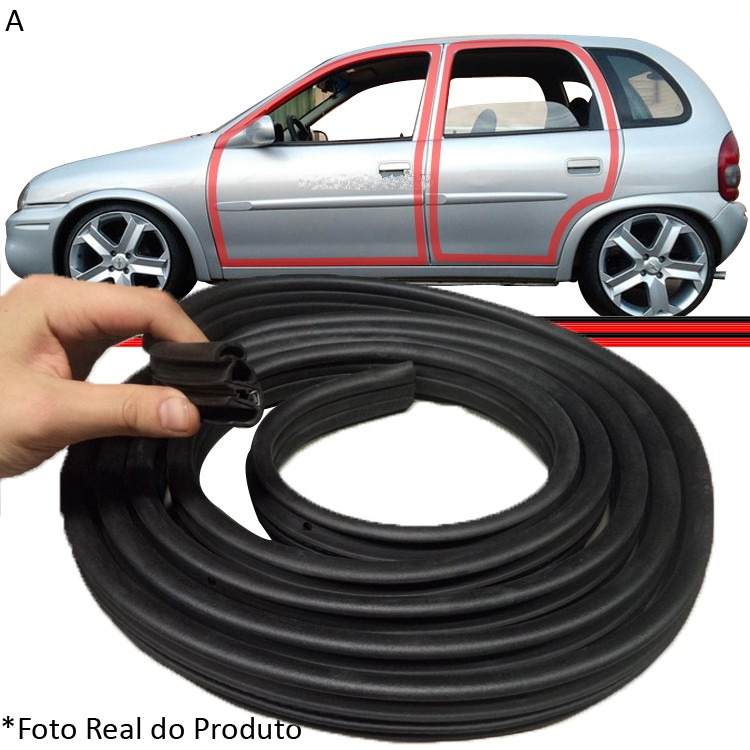 Borracha Porta Corsa Wind Hatch Sedan Wagon Pick-Up 94 a 12  - Amd Auto Peças