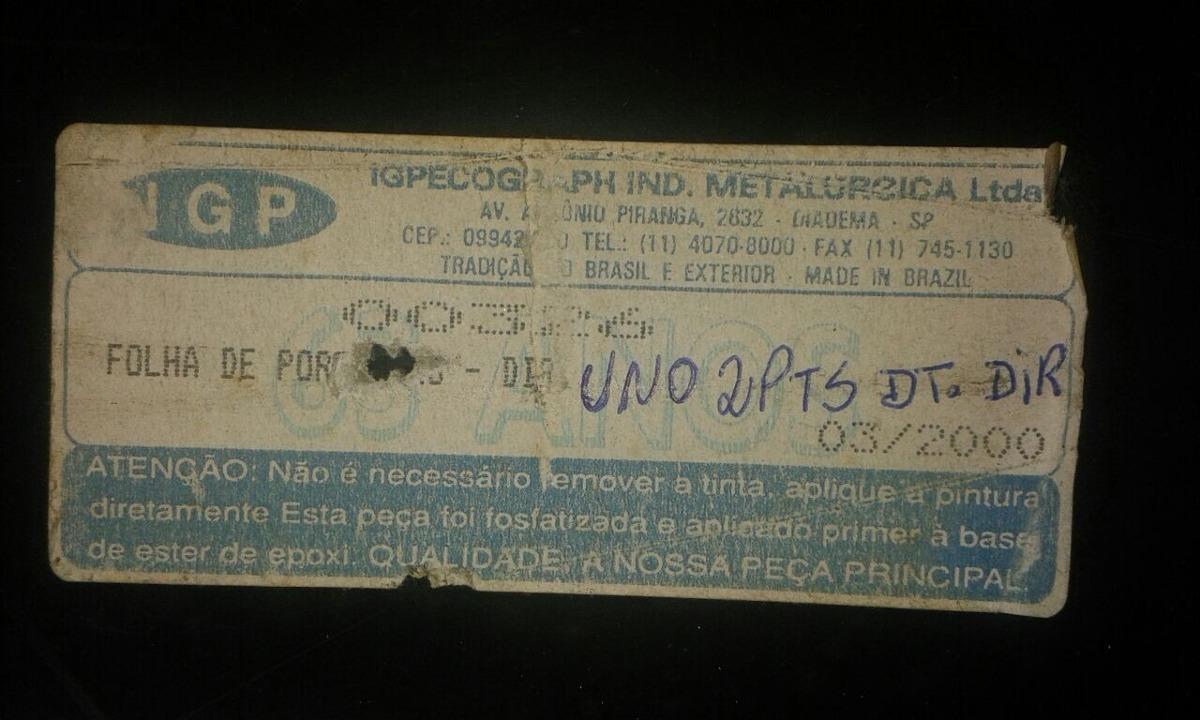 Folha Porta Uno Elba Prêmio 84 á 04 2 Portas  - Amd Auto Peças