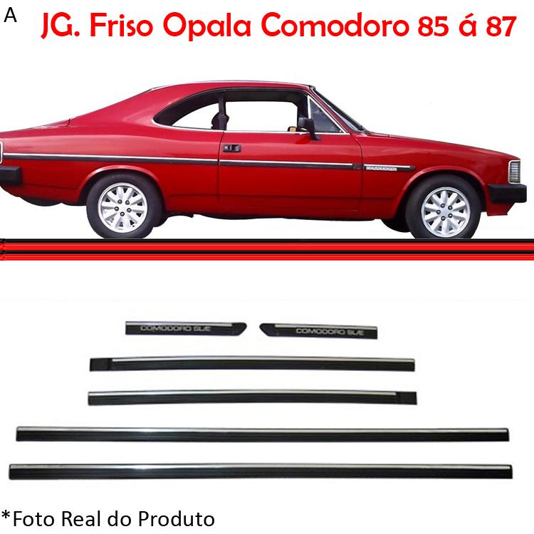 Jogo Friso Lateral Opala Comodoro 85 a 87 2 Portas  - Amd Auto Pe�as