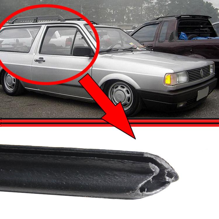 Friso Plástico PVC Calha Teto Parati 80 a 95 Preto Sem Alumínio (Par)  - Amd Auto Peças