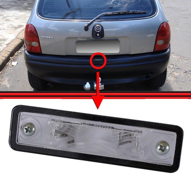 Lanterna Placa Astra Ômega Vectra Corsa Prisma 93 a 05  - Amd Auto Peças