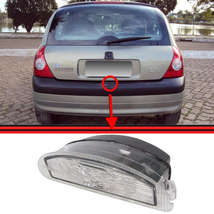 Lanterna Placa Clio Hatch Sedan  - Amd Auto Peças