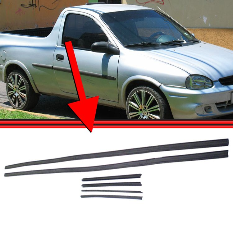 Borracha Canaleta Janela Corsa 94 a 03 2 Portas Corsa Pick-Up  - Amd Auto Peças