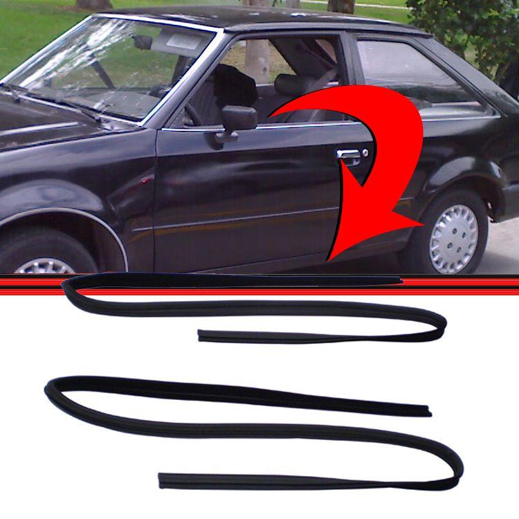 Borracha Canaleta Janela Porta Escort 84 a 92 Apollo 90 a 92 Verona 87 a 92 Hobby 92 a 95  - Amd Auto Peças