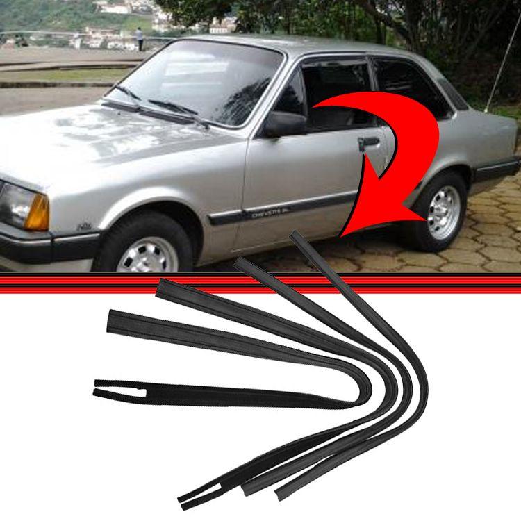 Jogo Canaleta Borracha Janela Chevette Marajó Chevy 83 á 96  - Amd Auto Peças