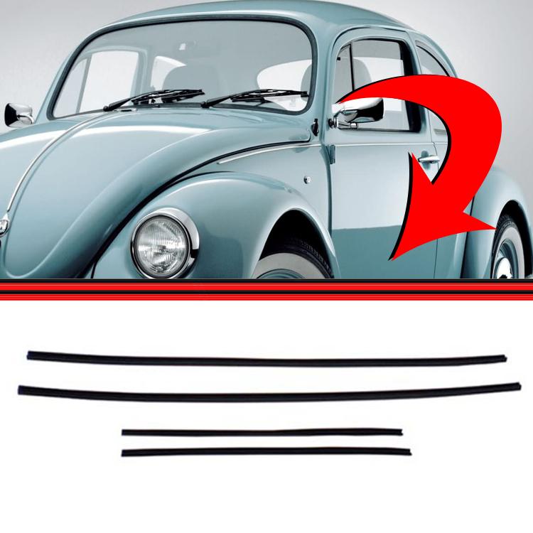 Jogo Canaleta Borracha Janela Fusca 78 a 96  - Amd Auto Peças