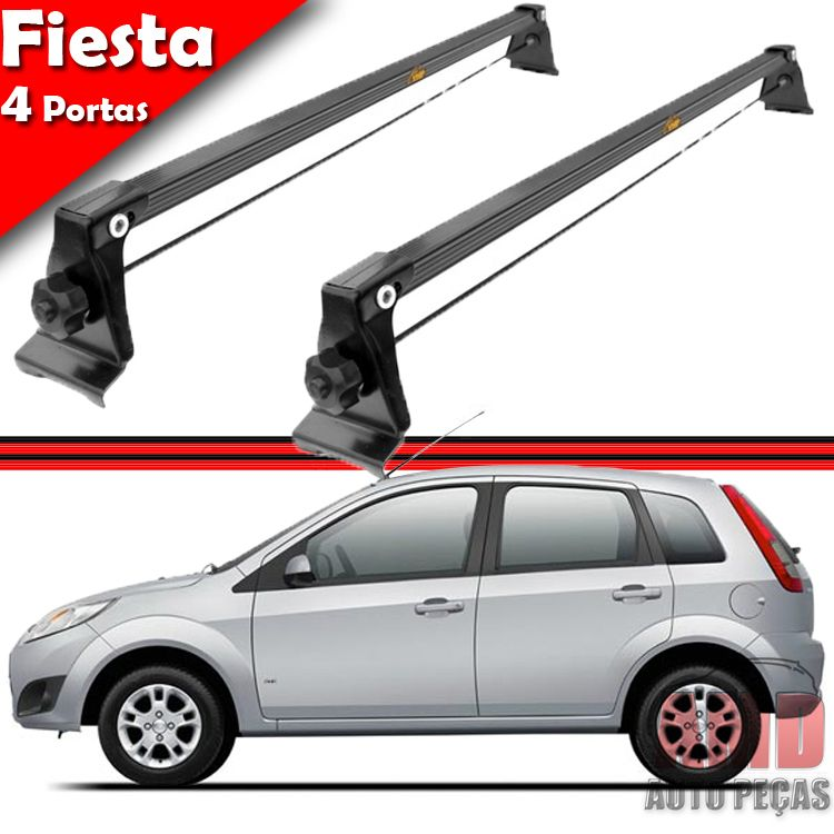 Rack Teto Travessa Bagageiro Fiesta Hatch Sedan 03 a 14