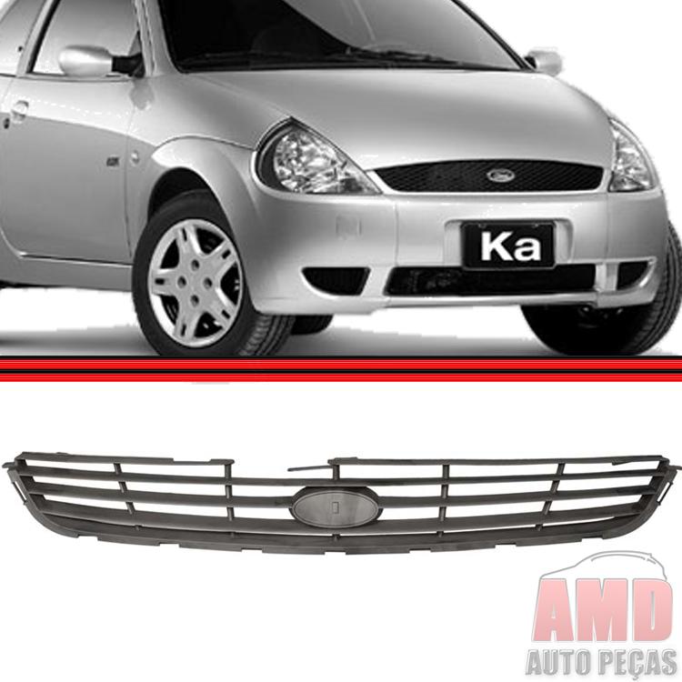 Grade Dianteira Radiador Ka 01 a 03 Preta  - Amd Auto Peças