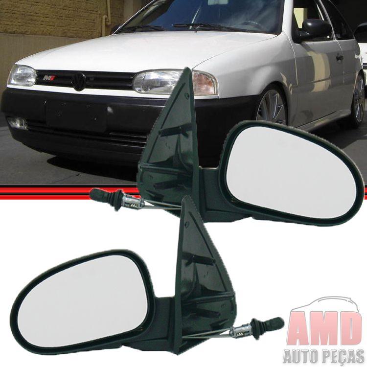 Retrovisor Espelho Gol Parati Saveiro Bola GII G2 2 Portas Com Controle  - Amd Auto Peças