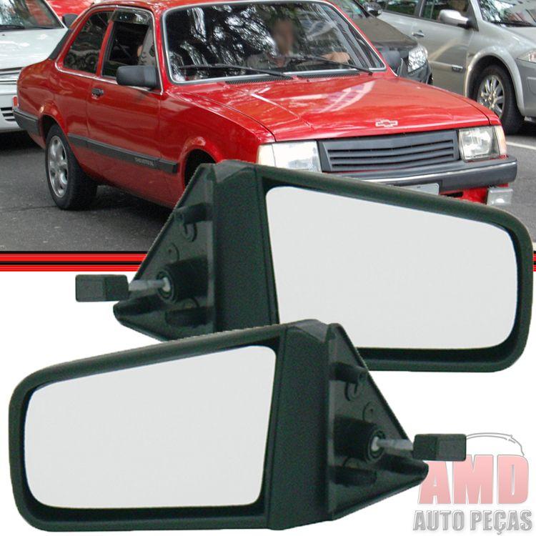 Retrovisor Espelho Chevette Marajo Chevy 500 Com Controle  - Amd Auto Peças
