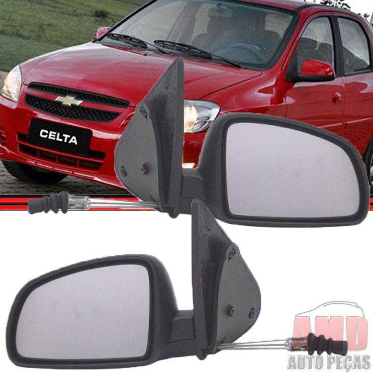 Retrovisor Espelho Celta Prisma 06 á 14 Com Controle  - Amd Auto Peças