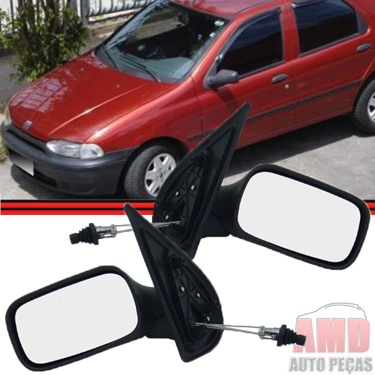 Retrovisor Espelho Palio Siena Weekend 96 A 00 4 Portas Com Controle  - Amd Auto Peças