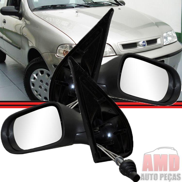 Retrovisor Espelho Palio Siena Weekend Fire 01 á 05 4 portas Com Controle  - Amd Auto Peças
