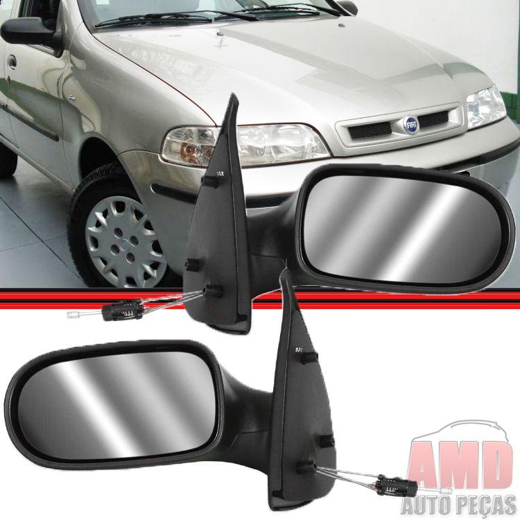 Retrovisor Espelho Palio Strada 01 á 05 Fire 2 Portas Com Controle  - Amd Auto Peças