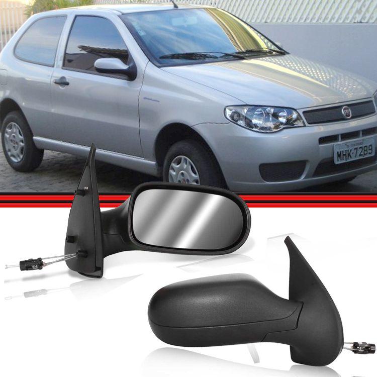 Retrovisor Espelho Palio Strada 04 a 07 2 Portas Com Controle  - Amd Auto Pe�as