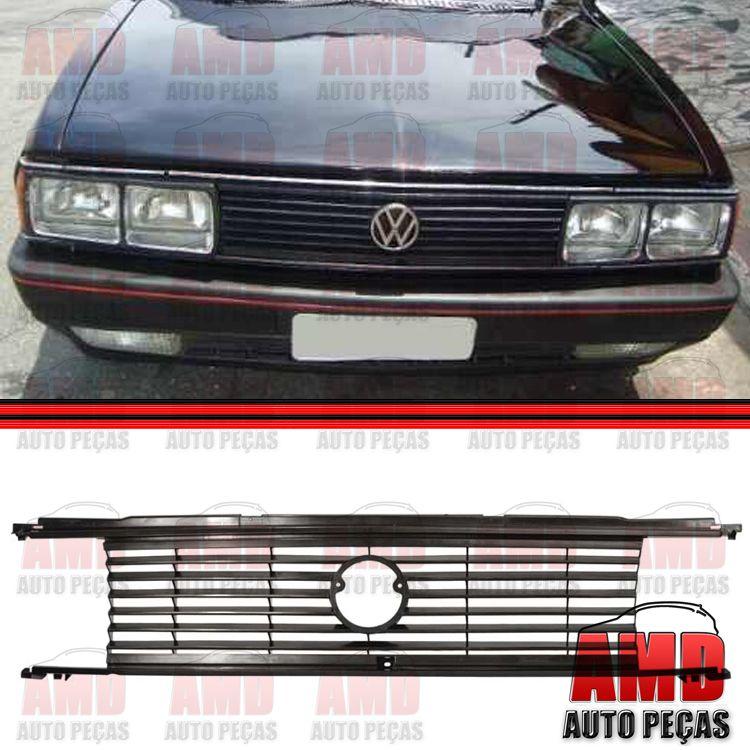 Grade Dianteira Radiador Passat 83 a 86 Preto  - Amd Auto Pe�as