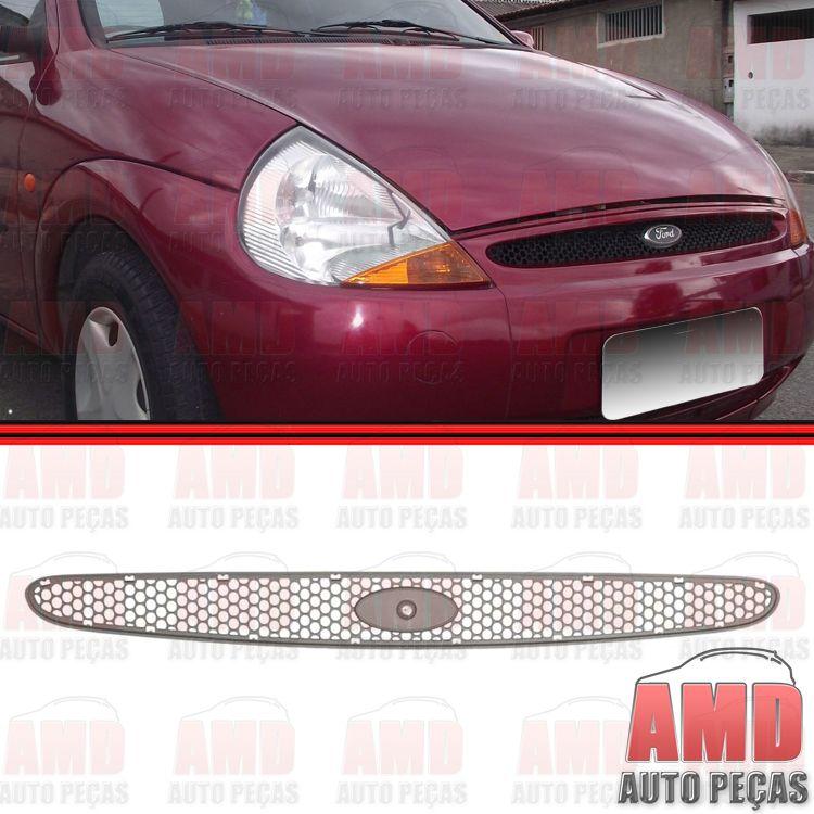 Grade Dianteira Radiador Ka 96 a 99 Preta  - Amd Auto Peças