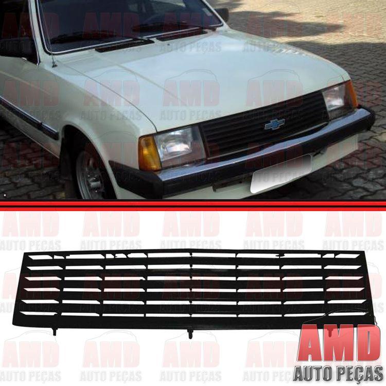 Grade Dianteira Radiador Chevette Marajó Chevy 500 83 a 86 Preta  - Amd Auto Peças