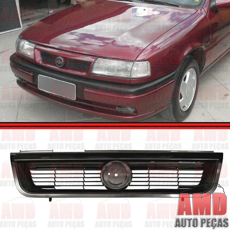 Grade Dianteira Radiador Vectra 94 a 96 Preta   - Amd Auto Pe�as