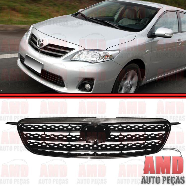 Grade Dianteira Radiador Toyota Corolla XEI Preta com Moldura Cromada  - Amd Auto Peças