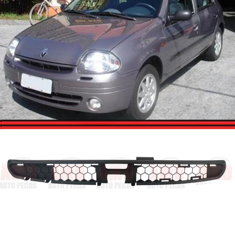 Grade Dianteira Radiador Renault Clio 98 a 02 Preta  - Amd Auto Peças