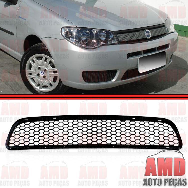Grade Dianteira  Parachoque Palio GIII G3 04 a 07 Preta  - Amd Auto Peças