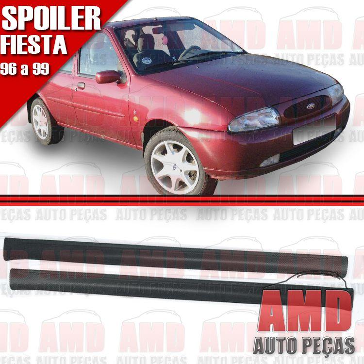 Par Spoiler Lateral Fiesta 4 Portas 96 á 99 Sem Tela   - Amd Auto Peças