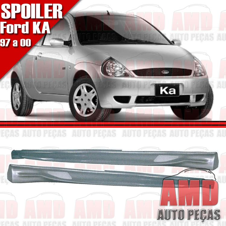 Par Spoiler Lateral Ka 97 a 02 Com Tela Tuning  - Amd Auto Pe�as