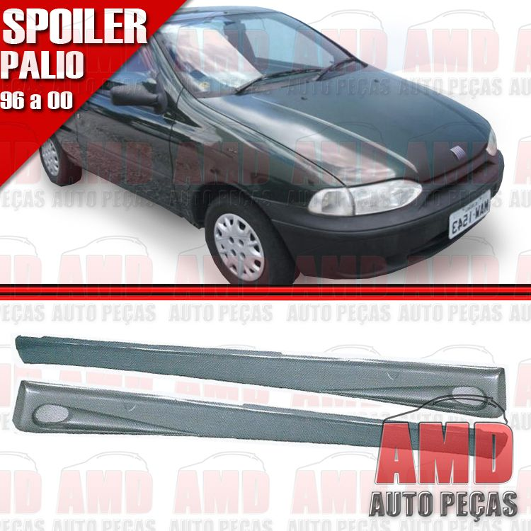 Par Spoiler Lateral Palio 96 a 00 2 Portas Com Tela Tuning  - Amd Auto Peças