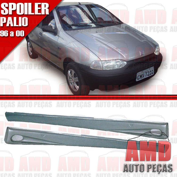 Par Spoiler Lateral Palio 96 á 00 4 Portas com Tela Tuning   - Amd Auto Peças