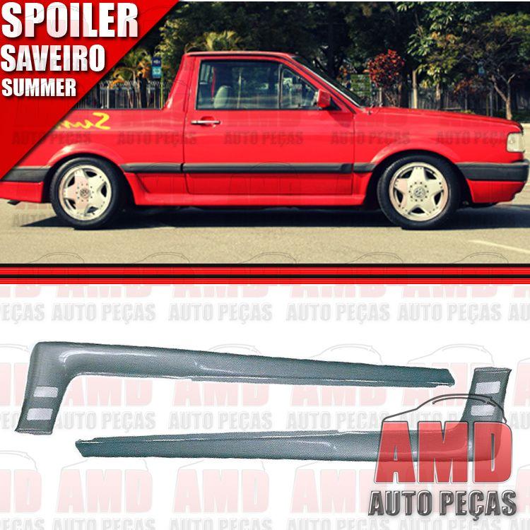 Par Spoiler Lateral Saveiro Summer 87 A 95 com Tela Tuning  - Amd Auto Peças