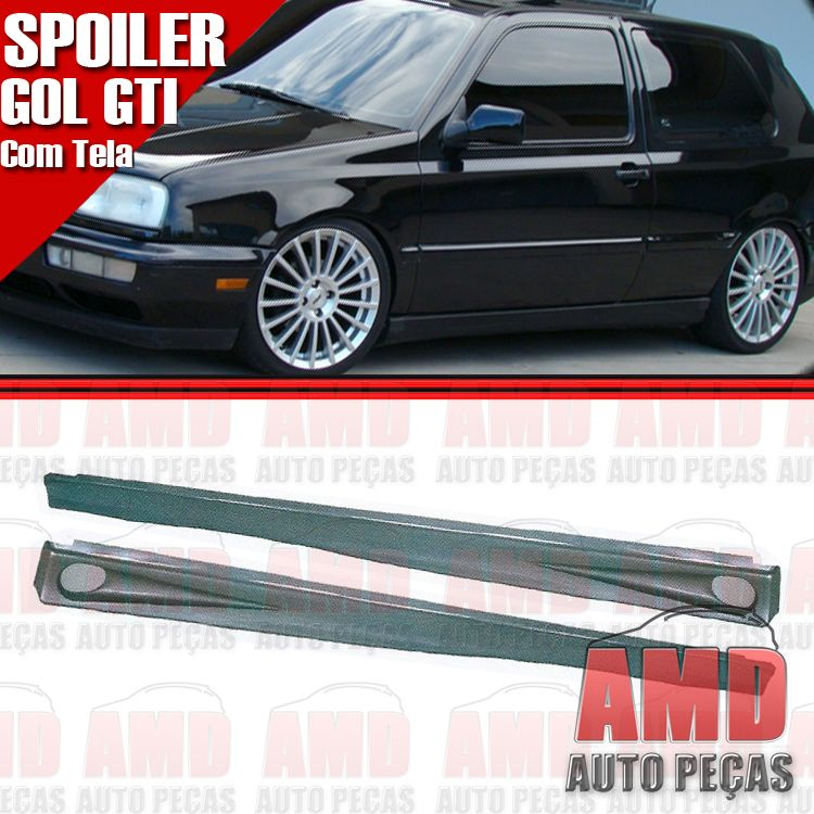Par Spoiler Lateral Golf 95 a 99 GTI 2 Portas com Tela  - Amd Auto Pe�as