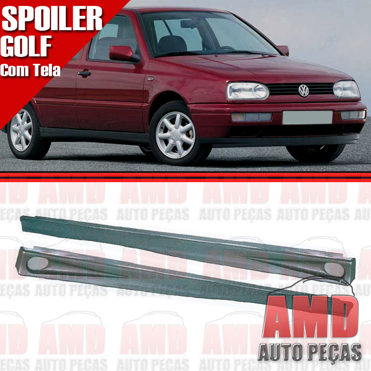 Par Spoiler Lateral Golf 95 a 99 4 Portas com Tela  - Amd Auto Peças