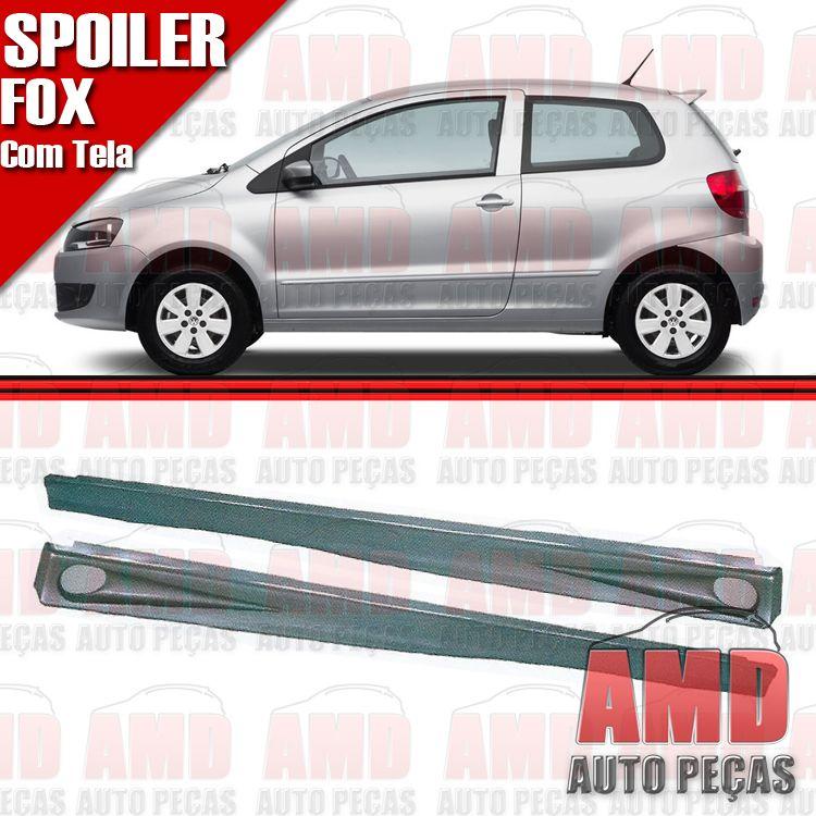 Par Spoiler Lateral Fox Crossfox 03 á 10 2 Portas Preto com Tela  - Amd Auto Peças