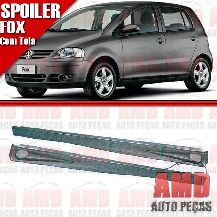 Par Spoiler Lateral Fox Crossfox 03 a 10 4 Portas Preto com Tela de Alumínio  - Amd Auto Peças