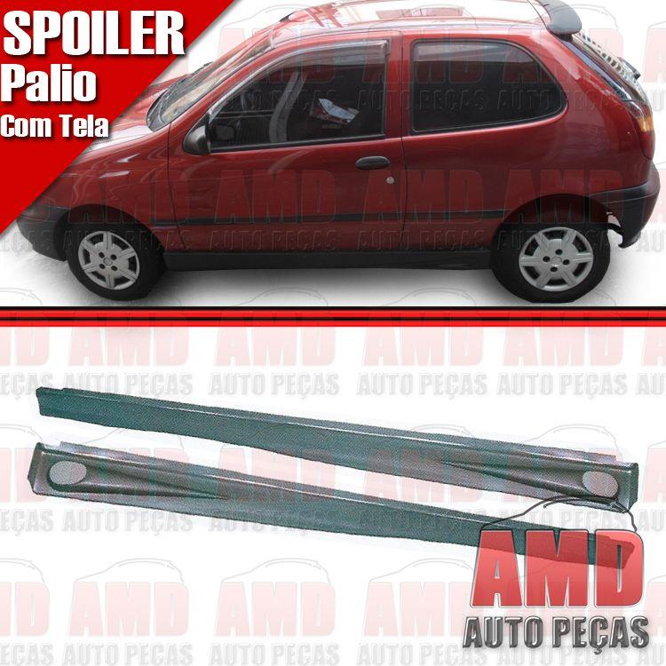 Par Spoiler Lateral palio 96 á 98 2 portas com tela  - Amd Auto Peças