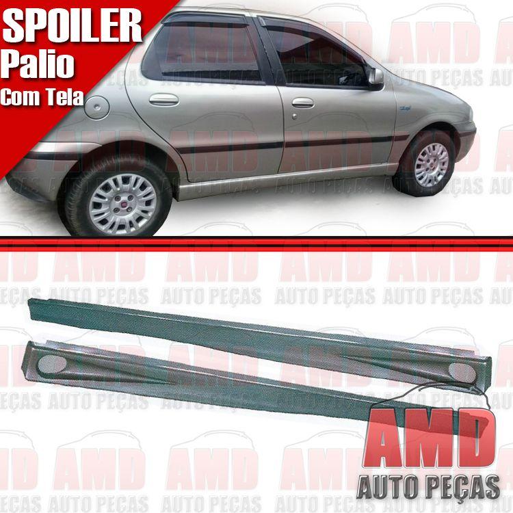 Par Spoiler Lateral Palio 96 a 98 4 Portas com Tela  - Amd Auto Peças