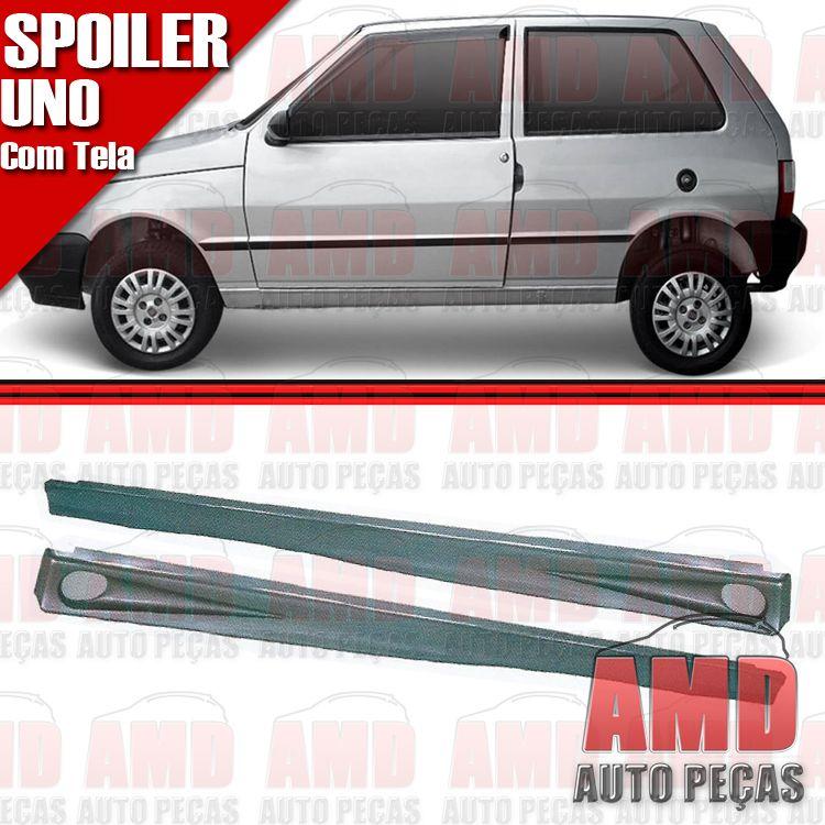Par Spoiler Lateral Uno Pr�mio Elba 2 Portas com Tela  - Amd Auto Pe�as