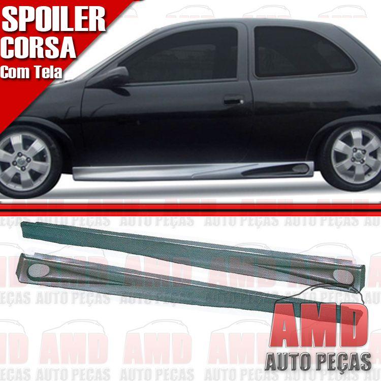 Par Spoiler Lateral Corsa 2 Portas 93 a 97 Com Tela  - Amd Auto Peças