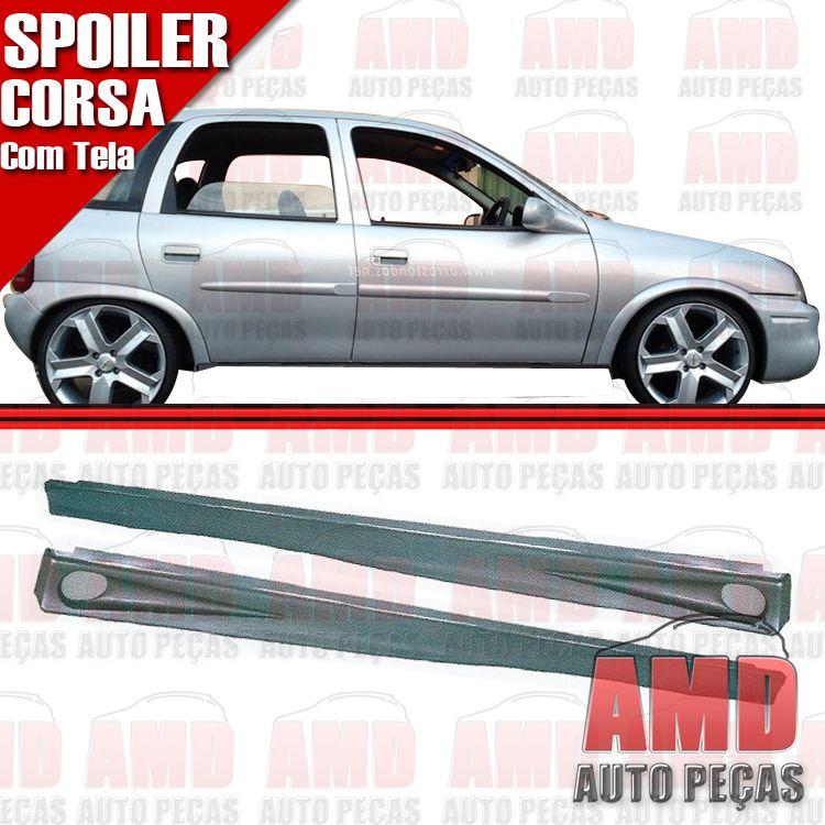 Par Spoiler Lateral Corsa Hatch 4 Portas 01 a 06 com Tela  - Amd Auto Peças