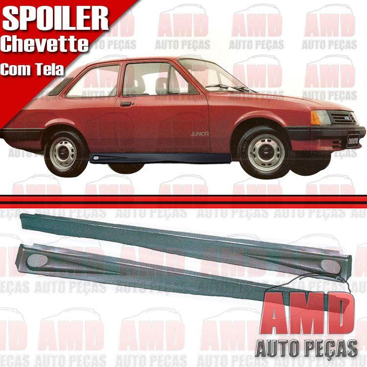 Par Spoiler Lateral Chevette 83 a 96 com Tela  - Amd Auto Peças