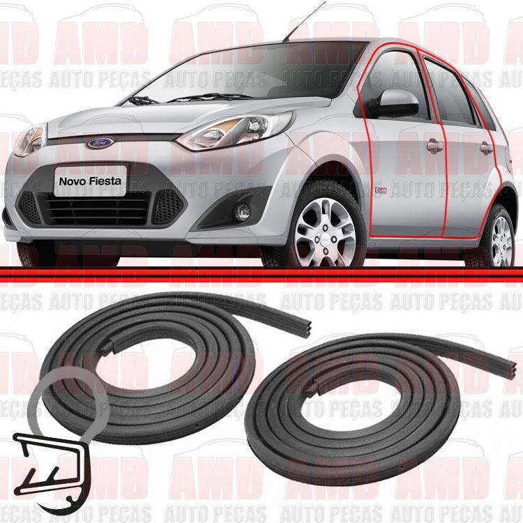 Par Borracha Porta Fiesta Amazon Hatch Sedan Ecosport GL 02 a 11  - Amd Auto Peças
