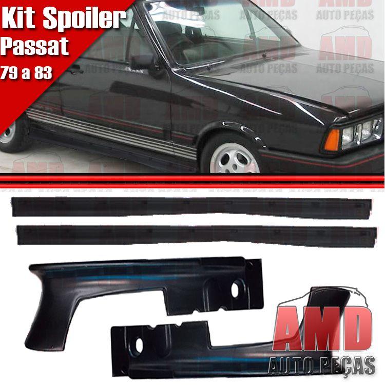 Kit Spoiler Passat 79 a 85 Dianteiro + Lateral Sem Tela  - Amd Auto Peças