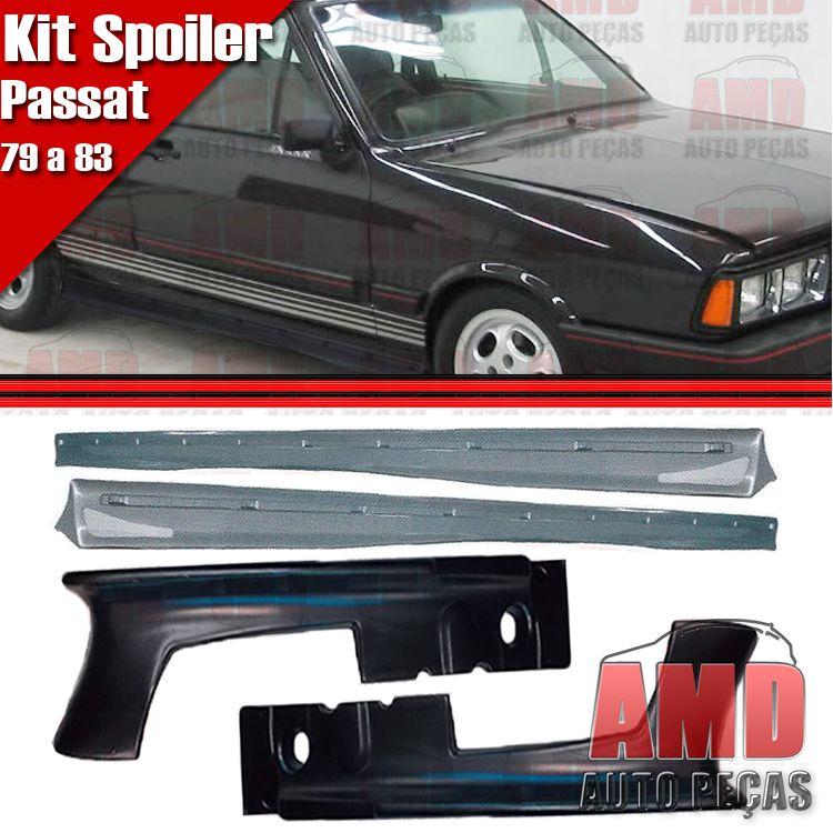 Kit Spoiler Dianteiro Passat 79 a 85 + Spoiler Lateral Com Tela  - Amd Auto Peças