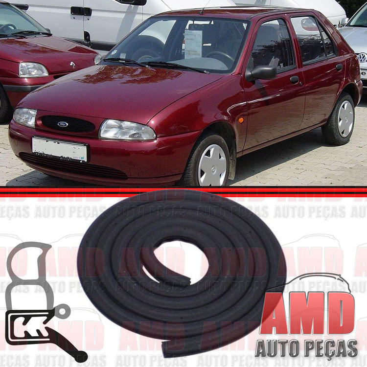 Borracha Porta Fiesta 95 a 06 Ka 97 a 07 Courier 97 a 13 Modelo Original  - Amd Auto Peças