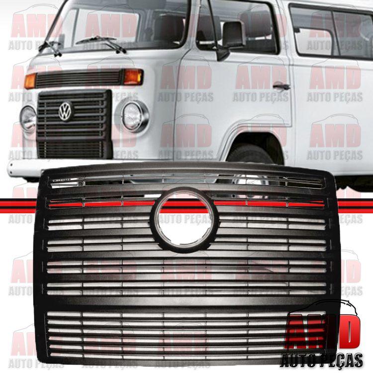 Grade Dianteira Radiador Kombi Carat Flex 06 a 14 Preto  - Amd Auto Pe�as