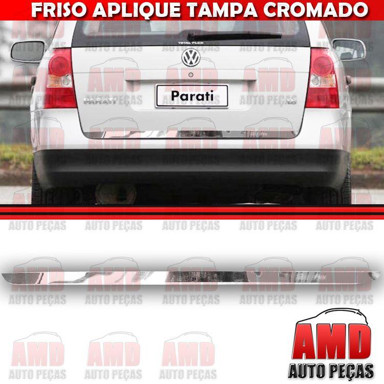 Friso Tampa Traseira Porta Mala Cromado Parati GIV 05 A 06  - Amd Auto Pe�as