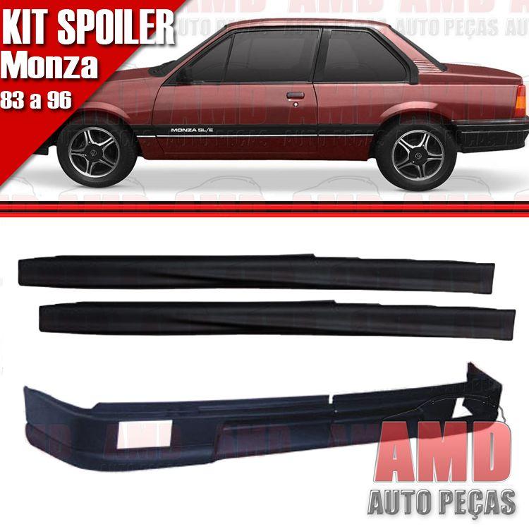Kit Spoiler Monza 83 á 96 2 Portas Dianteiro Com Furo + Lateral Sem Tela  - Amd Auto Peças