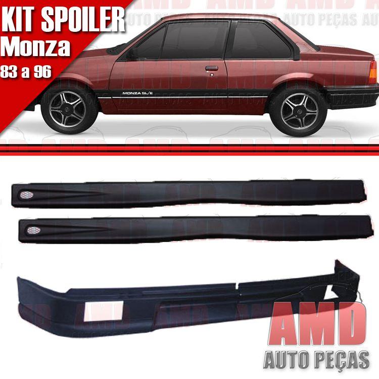Kit Spoiler Monza 83 á 96 2 Portas Dianteiro Com Furo + Lateral Com Tela  - Amd Auto Peças